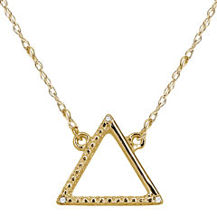 Diamond Accent 14K Yellow Gold Necklace