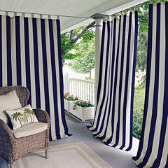 Highland Stripe Indoor/Outdoor Tab-Top Curtain Panel