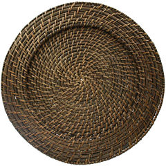 Round Woven Rattan Set of 4 Chargers
