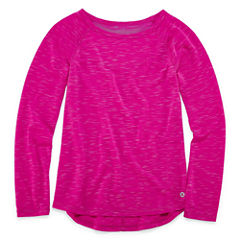 Xersion Long Sleeve Mesh Panel Tunic Top - Girls' 7-16 and Plus
