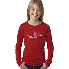 Los Angeles Pop Art Dancer Long Sleeve Graphic T-Shirt Girls
