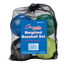Champion Sports Weighted Training Baseball Set of4
