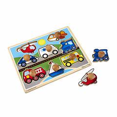Melissa & Doug® Vehicles Jumbo Knob Puzzle