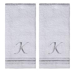 Saturday Knight 2-Pack K Monogram Hand Towel