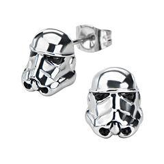 Star Wars® Stormtrooper Stainless Steel Earrings
