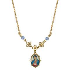 1928 Symbols Of Faith Religious Jewelry Womens Pendant Necklace
