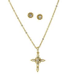 1928 Symbols Of Faith Religious Jewelry Womens 2-pc. Clear Jewelry Set