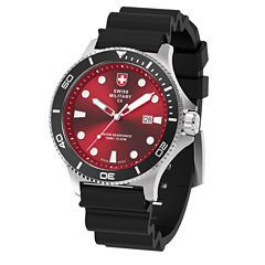 Swiss Military By Charmex Diving Mens Black Strap Watch-79292_9_H