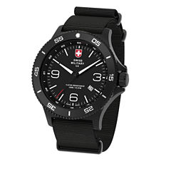 Swiss Military By Charmex Infantry Mens Black Strap Watch-78344_5_A