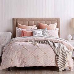 Peri Chenille Scallop Comforter Set