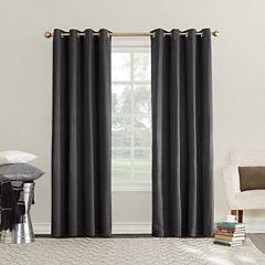 Sun Zero Erin Room-Darkening Triple Lined Grommet Curtain Panel