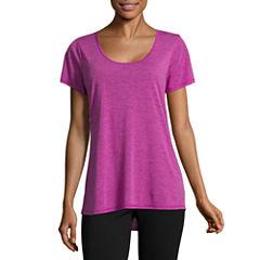 St. John's Bay Active Short Sleeve V Neck T-Shirt-Womens