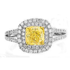 Modern Bride® Signature 1 CT. T.W. Diamond 14K White Gold Engagement Ring
