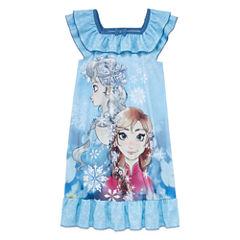 Disney Short Sleeve Frozen Nightshirt-Big Kid Girls