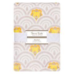 Trend Lab Art Deco Lions Receiving Blanket