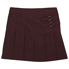 French Toast Two-Tab Pleated Scooter - Girls Plus