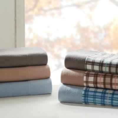 sleep philosophy cozy micro fleece easy care sheet set - Microfleece Sheets