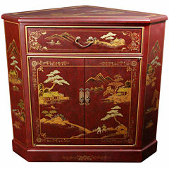 Oriental Furniture Ming Style Accent Cabinet