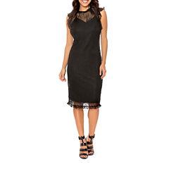 T.D.C Ruffle Sleeve Lace Bodycon Dress