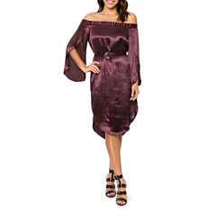 T.D.C Off-The-Shoulder Sheath Dress