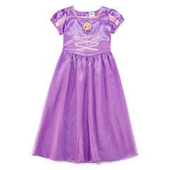Disney Short Sleeve Tangled Nightgown-Big Kid Girls