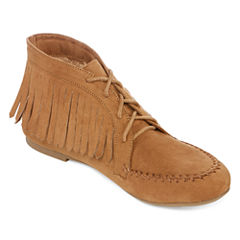 Bamboo Circus-03 Lace-Up Fringe Moccasins