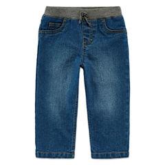 Arizona Dark-Wash Ribbed Jeans - Baby Boys 3m-24m