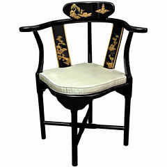 Oriental Furniture Corner Armchair