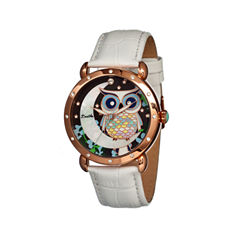 Bertha Ashley Womens Mother Of Pearl Dial White Leather Strap Watch Bthbr3004