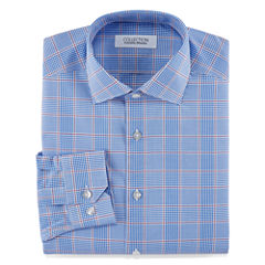 Collection by Michael Strahan Stretch Fabric Long Sleeve Dress Shirt Woven Plaid