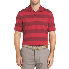 IZOD Rugby Easy Care Short Sleeve Stripe Knit Polo Shirt