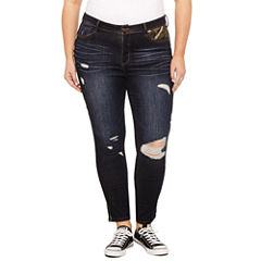 Rewash Piped Camo Skinny Jeans-Juniors Plus