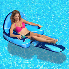 Blue Wave Drift + Escape Inflatable Pool Lounger