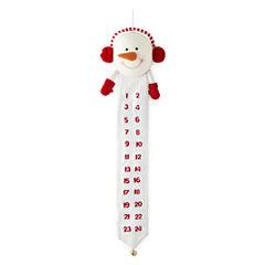North Pole Trading Co. Christmas Cheer Plush Snowman Hanging Advent Calendar