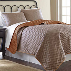 Pacific Coast Textiles Chevron Reversible Coverlet3-pc. Coverlet Set