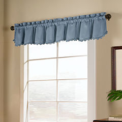United Curtain Co. Blackstone Rod-Pocket Loop Fringe Blackout Valance