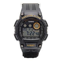 Casio® Mens Black W735 Strap Watch W735HB-1AV