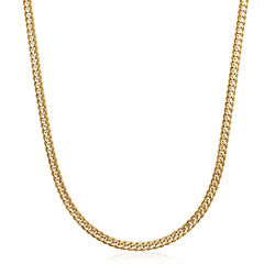 Made in Italy 14K Yellow Gold Solid 24 In Curb Link Necklace