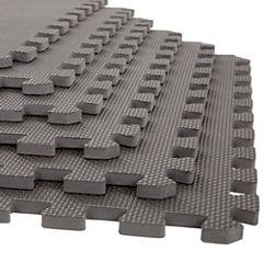Stalwart 6-pack Gray Interlocking EVA Foam Floor Mats