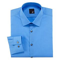JF J.Ferrar Easy-Care Solid Long Sleeve Broadcloth Dress Shirt - Slim