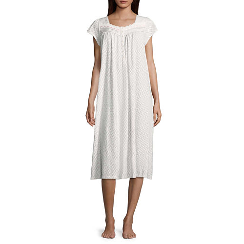 Adonna Short Sleeve Knit Long Nightgown