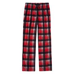 Arizona Microfleece Red Plaid Pajama Pant-Boys 4-20 & Husky