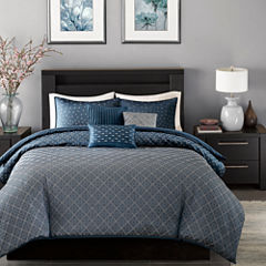 Madison Park Morris Polyester Jacquard 6-pc. Jacquard Duvet Cover Set