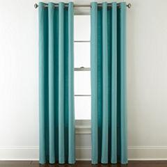 JCPenney Home Verona Cotton Grommet-Top Curtain Panels