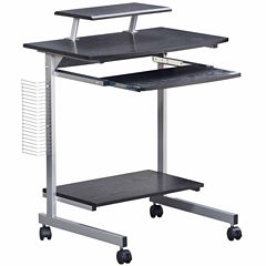 RTA Products LLC Techni Mobili Compact Computer Cart with Storage