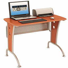 RTA Products LLC Techni Mobili Modern Computer Desk with Mobile CPU Caddy