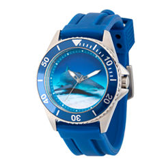 Discovery Expedition Mens Blue Rubber Shark Watch