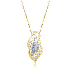 1/2 CT. T.W. Diamond 10K Yellow Gold Pendant Necklace