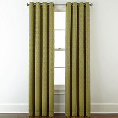 Studio™ Luna Grommet-Top Lined Textured Blackout Curtain Panel