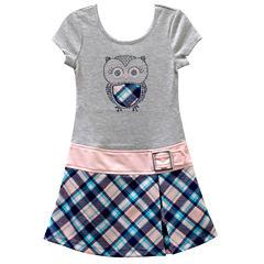 Lilt Short Sleeve Drop Waist Dress - Preschool Girls
